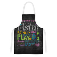 """Snap Studio """"Happy Easter Text"""" Pastels Typography Artistic Apron"""