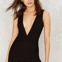 Tight Knot Plunging Romper