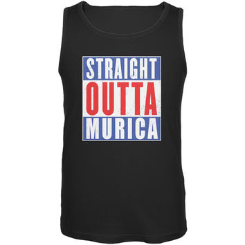 July 4th Straight Outta Murica America Funny Mens Tank Top