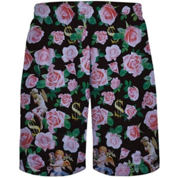 Money Flowers Mesh Shorts