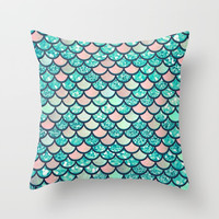 Mermaid Dream Throw Pillow by Printapix
