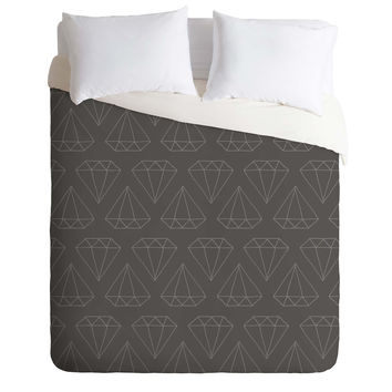 Wesley Bird Diamond Print 1 Duvet Cover