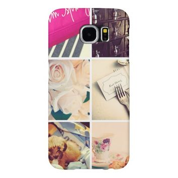 Custom Instagram Photo Collage Samsung Galaxy S6 Cases
