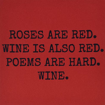 3dRose Roses Are Red Wine Is Also Red Poems Are Hard Wine Mouse Pad (mp_200704_1)
