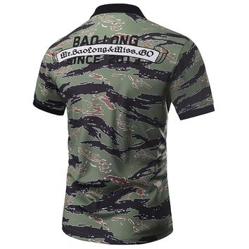 New Designed Camouflage POLO Shirts Men Summer Tops 3d Shirts Print Skulls Graphic 3d