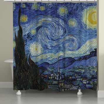 Vincent Van Gogh's Starry Night Shower Curtain