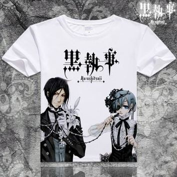 Black Butler Short Sleeve Anime T-Shirt V1