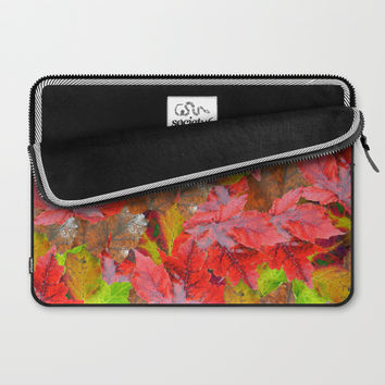 Autumn Fallen Leaves Laptop Sleeve by deluxephotos