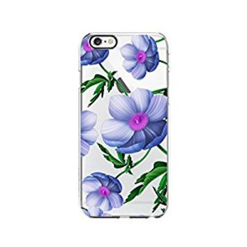 Floral Flower Pattern Transparent Silicone Plastic Phone Case for iphone 6PLUS _ LOKIshop (iphone 6 plus)