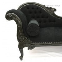 Fabulous & Baroque ? Queen Anne's Revenge Chaise - Black