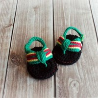 free shipping, Baby Summer Shoes,Barefoot sandals Baby Bob Marley Flip Flops, Crochet Baby Sandals, MADE TO ORDER size: 9cm,11cm
