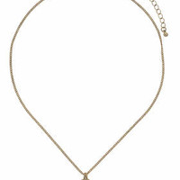 Ditsy Fatima Hand Necklace - Gold