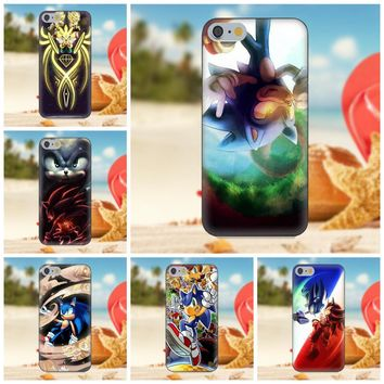 Oedmeb For iPhone 4S 5S 5C SE 6S 7 8 Plus X Galaxy Note 5 6 8 S9+ Grand Core Prime Alpha Soft Case Cover Sonic Hedgehog Power