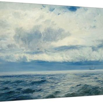 Storm Brewing, 1890 Stretched Canvas Print by Henry Moore at Art.com
