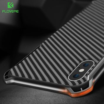 FLOVEME Shockproof Case For iPhone X 10 Luxury Bumper Phone Cases For iPhone 8 7 6 6s Plus Black Cover Mobile Accessories Coque