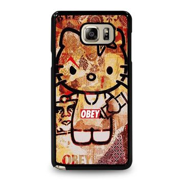 OBEY HELLO KITTY Samsung Galaxy Note 5 Case Cover