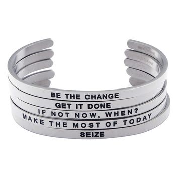 Inspirational Cuff Bracelets, The Motivation Series