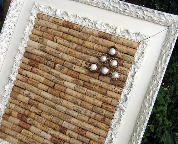 large wine cork bulletin board in antique from 4eyesandears on. Black Bedroom Furniture Sets. Home Design Ideas