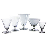 Vintage Danish Stemware Collection 49 Piece Etched Crystal Set