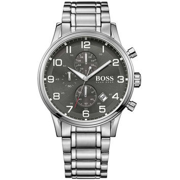 Hugo Boss 1513181 Aeroliner Mens Watch - Grey Dial