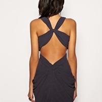 Lipsy Dress With Cut Out Back And Embellished Waist at asos.com