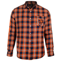 Chicago Bears Wordmark Basic Flannel Long Sleeve Shirt Sizes S-XXL w/ Priority Shipping