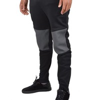 RELIGION CLOTHINGKNEE PANEL SWEATPANTS - BLACK