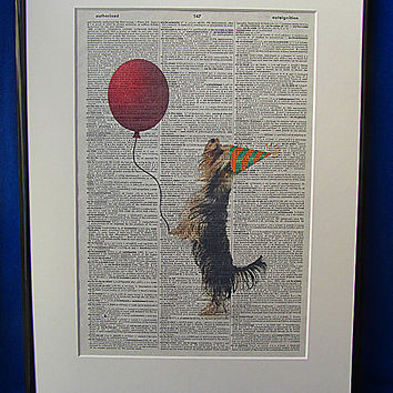 Party Time Dog Wall Art Print