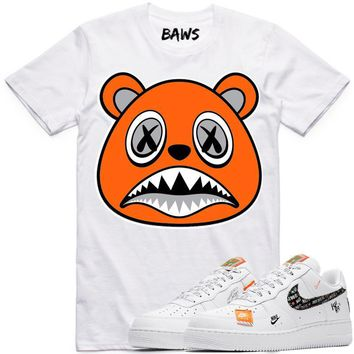 ORANGE BAWS White Sneaker Tees Shirt - Nike Air Just Do It