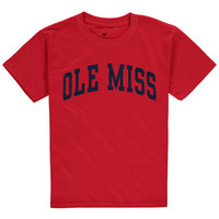 Youth Fanatics Branded Red Ole Miss Rebels Basic Arch T-Shirt