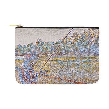 Levi Thang Fishing Design 2 Carry-All Pouch 12.5''x8.5''