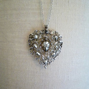 Georgian Diamond Heart Pendant
