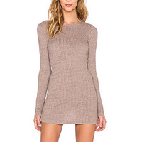 Long Sleeve Tunic in Mauve Wood