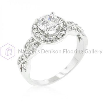 Round Cut Halo Engagement Ring (size: 06) R08338R-C01-06