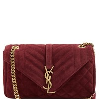 Monogram classic quilted suede cross-body bag | Saint Laurent | MATCHESFASHION.COM US