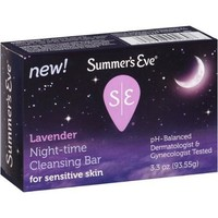 Summer's Eve Lavender Night-Time Cleansing Bar for Sensitive Skin 3.3 oz