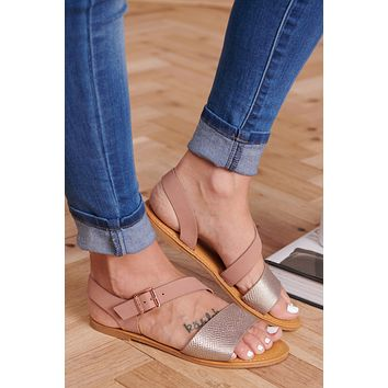 Forever Impressed Sandals (Rose Gold)