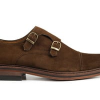 Hoyt Double Monkstraps - Brown suede