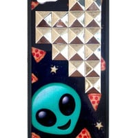 Alien Pizza Silver Studded Pyramid iPhone 5/5s Case