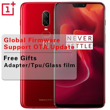Global ROM 6.28 inch Oneplus 6 Snapdragon 845 Octa Core Android 8.1 6GB/8GB RAM 128GB/256GB ROM Cell Phone Dash Charge NFC