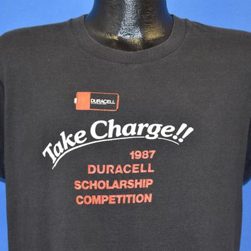 80s Duracell Take Charge Scholarship 1987 t-shirt Large