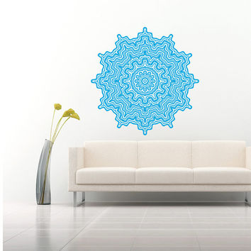 Wall Decal Vinyl Sticker Decals Art Home Decor Murals Mandala Ornament Indidan Geometric Moroccan Pattern Yoga Namaste Flower Bedroom AN6