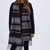 Staring at Stars Blanket Scarf in Plum - Urban Outfitters