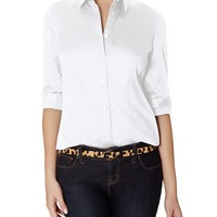 Long-Sleeve Button Down Shirt   Women's Tops   THE LIMITED