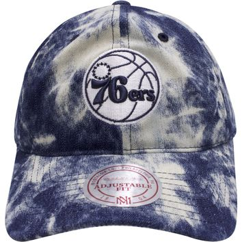 Philadelphia 76ers Acid Wash Denim Dad Hat