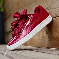 Puma Basket Heart Patent Casual Shoes