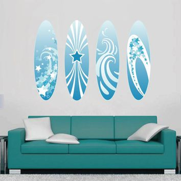 cik1511 Full Color Wall decal board surfing hall bedroom sports shop
