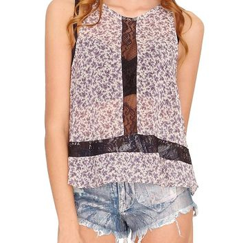 Secret Garden Tank Top - Purple Print