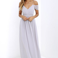 Quite the Charmer Grey Maxi Dress