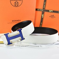 Hermes Fashion Smooth Buckle Belt Leather Belt